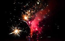 Free Red And Yellow Fireworks During Night Time Stock Image - 111217291