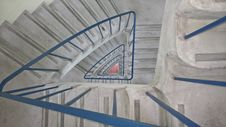 Free Grey And Blue Spiral Stair Case Painting Stock Photography - 111217292
