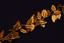 Free Gold Leaves On Chain Stock Images - 11136154
