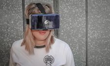 Free Photo Of Woman Wearing Virtual Reality Headset Stock Photos - 111364493