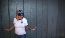 Free Photo Of Woman Wearing Virtual Reality Headset Stock Images - 111364494