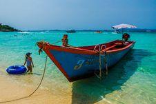 Free Photo Of Boat On Seashore Stock Photos - 111364623