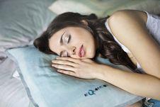 Free Close-Up Photography Of Woman Sleeping Stock Photo - 111364750