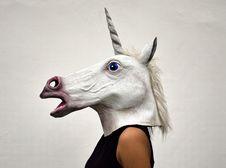 Free White Unicorn Head Costume Stock Photos - 111457303