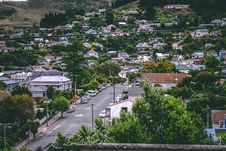 Free Birds Eye View Photography Of Cars On Street Between Houses Royalty Free Stock Photography - 111457327