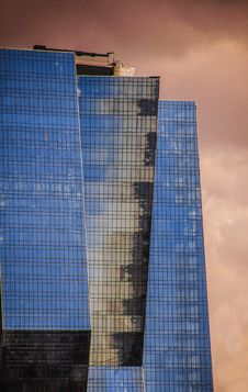 Free Blue Glass High-rise Buildings Royalty Free Stock Photo - 111457335