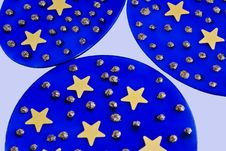 Blue Glass With Stars Royalty Free Stock Photography