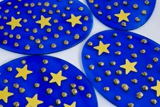 Starry Discs Royalty Free Stock Photography