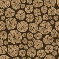 Vector Pattern Of Sawn Wood Stock Photography