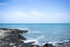 Free Ocean View With Black Rock Formation Stock Photo - 111545440
