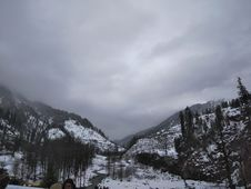 Free Grayscale Photograph Of Mountain Covered With Snow Stock Photography - 111545732