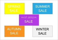 Free Seasonal Sales Posters / Flyers Stock Photo - 11169550