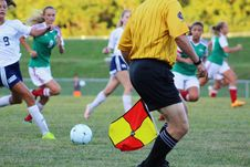 Free Woman Athletes Playing Soccer Stock Images - 111615064