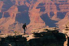 Free Bird S Eye-view Of A Man On Grand Canyon Mountain Royalty Free Stock Photo - 111615075