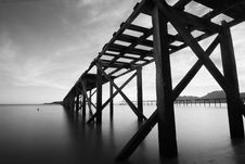 Free Grayscale Photo Of Bridge Stock Photo - 111615110