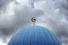 Free Silver Mosque Top Dome Ornament Stock Image - 111615111