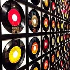 Free Assorted Vinyl Record Lot Stock Image - 111615181