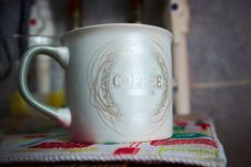 Free White And Silver Ceramic Mug Royalty Free Stock Photo - 111615195