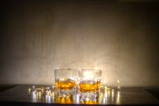 Free Two Shot Glasses Stock Photo - 111615270