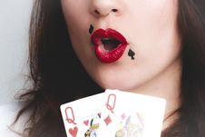 Free Queen Of Diamond And Heart Playing Cards Royalty Free Stock Photos - 111615348