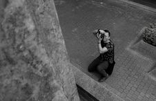 Free Grayscale Photography Of Man Taking Picture Stock Photo - 111615380