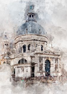 Free Watercolor Paint, Building, Painting, Paint Royalty Free Stock Photos - 111642548