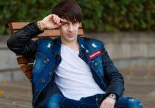 Free Blue, Jeans, Denim, Jacket Stock Images - 111643354