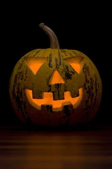 Free Halloween Pumpkin Face Royalty Free Stock Image - 11174496