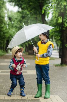 Free Umbrella, Yellow, Fashion Accessory, Child Stock Photo - 111720020