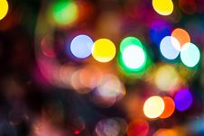 Free Blurred Christmas Tree Garland Stock Images - 111759254