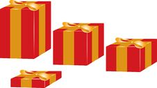 Free Present Box Bow Red Yellow Royalty Free Stock Images - 11187889