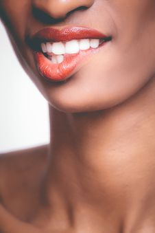 Free Photo Of Person Biting It S Own Red Lips Stock Image - 111823811
