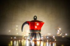 Free Red And Gray Moka Pot On Gray Surface Stock Image - 111823821