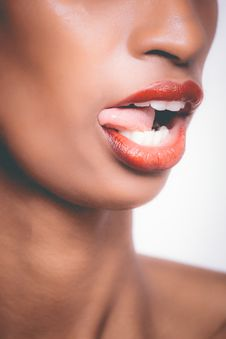 Free Selective Focus Photograph Of Woman Sticking Her Tongue Out Stock Images - 111823834