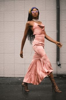 Free Photo Of Woman In Pink Spaghetti Strap Top And Pink Long Skirt Stock Photography - 111894482
