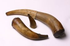 Free Powder Horns For Black Powder And Percussion Caps Stock Image - 1120101
