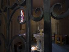 Sacred Space In St. Jarlath Catholic Church, Oakland, CA Royalty Free Stock Image