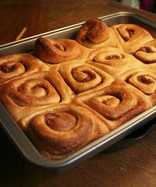 Free Warm Cinnamon Rolls Royalty Free Stock Photos - 1120638