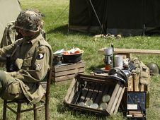 Free Soldier In Action Stock Image - 1120961