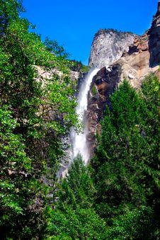 Bridal Veils Fall, Yosemite National Park Royalty Free Stock Photo