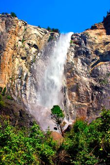 Bridal Veils Fall, Yosemite National Park Royalty Free Stock Image