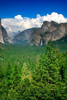 Tunnel View, Yosemite National Park Stock Photography