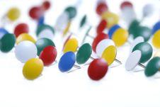 Free Colorful Thumbtacks Royalty Free Stock Photography - 1124177