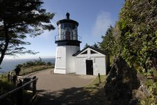 Lighthouse At Cape Meares, Oregon Stock Images