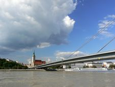 Free Sky And Flooded Danube Stock Image - 1126901