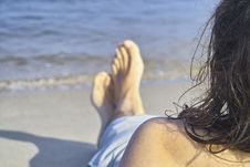 Free Resting In The Beach Royalty Free Stock Photos - 1128258