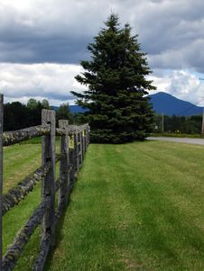 Fence By Lake Placid Area, Adirondack State Park, Ny Royalty Free Stock Photography