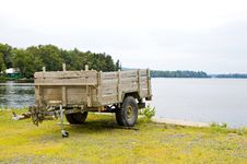 Wooden Utility Trailer Royalty Free Stock Photo