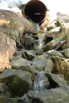 Free Winter Stream Stock Images - 1128794