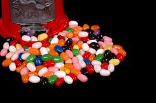 Free Jelly Beans Isolated On Black Stock Photos - 1128853